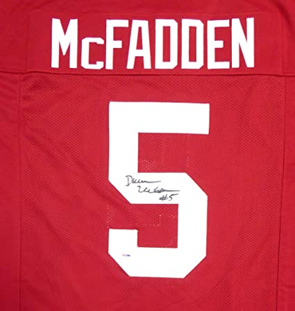 31beaacd0 Image Unavailable. Image not available for. Color  Arkansas Razorbacks Darren  McFadden Autographed Red Jersey ...