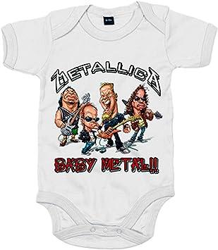 Body bebé parodia Metallica Baby Metal - Blanco, 6-12 meses: Amazon.es: Bebé