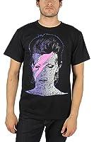David Bowie - - Herren Aladdin Foto T-Shirt in schwarz