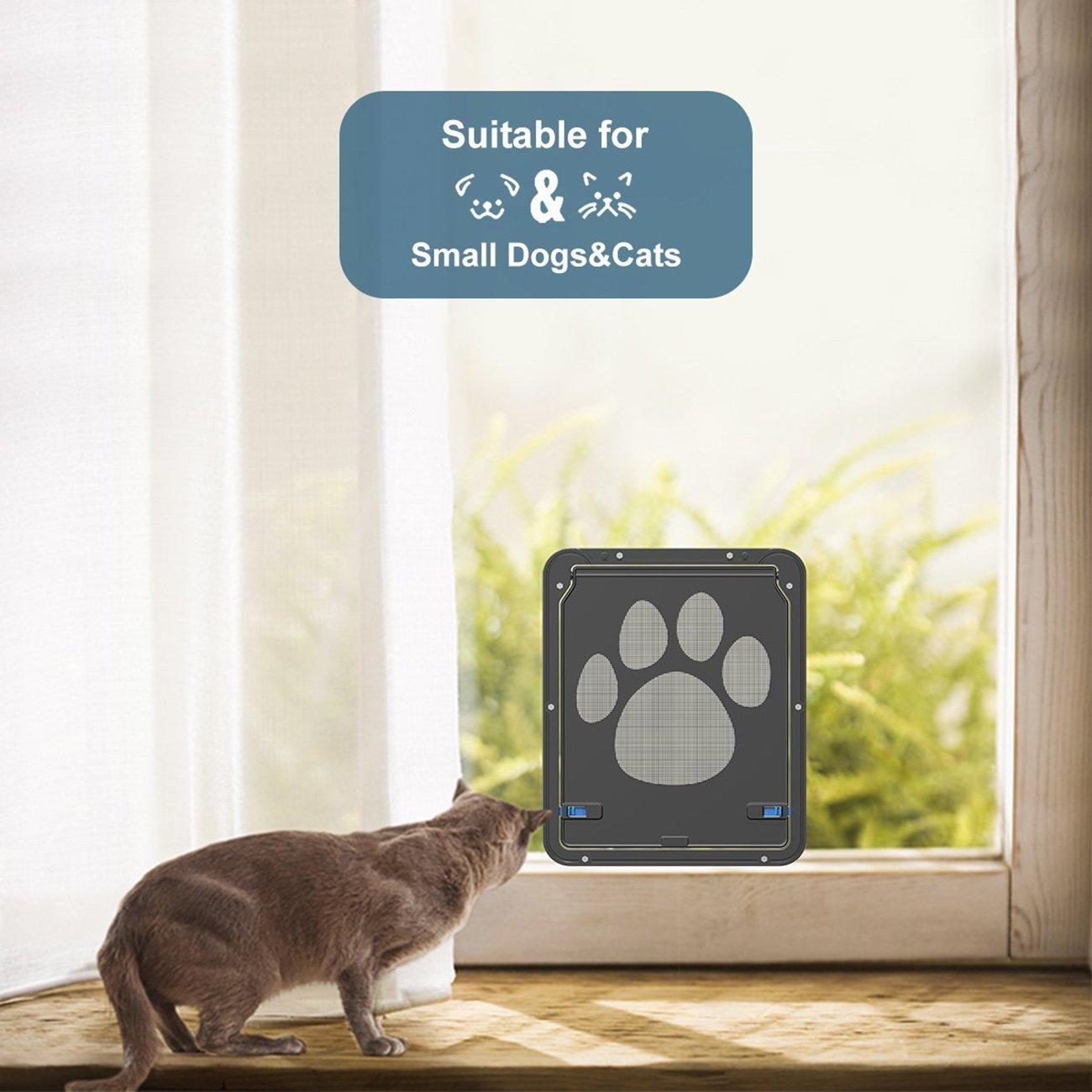 UHeng Magnetic Automatic Lock/Lockable Pet Screen Door cat Gate Way Pet Door for Screens by UHeng (Image #6)
