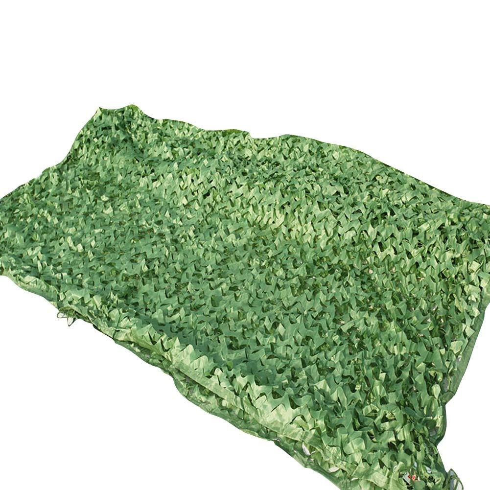 3x7m QIANGDA Filet De Camouflage Filet pour Parasol Militaire des Bois Couverture Camo pour Camping Chasse pour Dens Masquer La Chambre - Vert (Taille   4x4m)