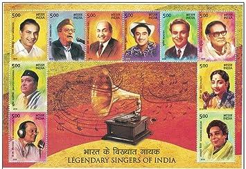 India 2016 Legendary Singers of Indian Cinema Music Film Miniature