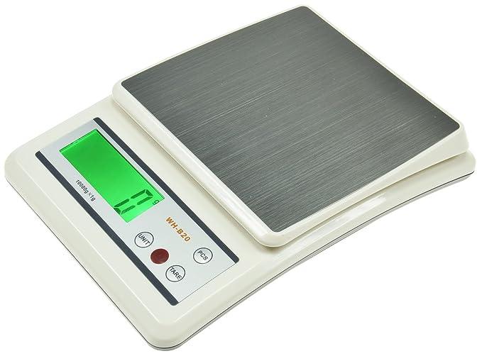 Balanza de precisión Cajas de almacenamiento de cocina Báscula con contador 0 – 10 kg ±