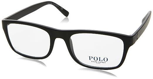 Polo PH2161 Eyeglass Frames 5284-53 - 53mm Lens Diameter Matte Black ...