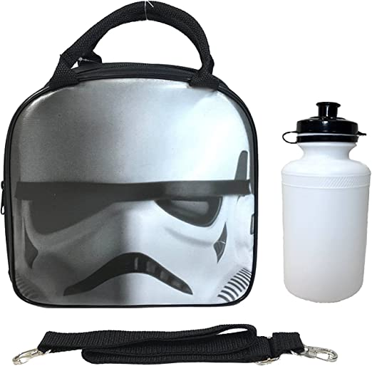 New Star Wars The Force Awakens Storm Trooper Insulated Lunch Bag w Water Bottle