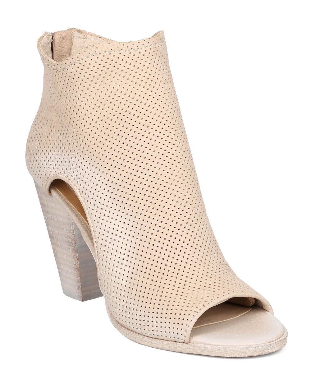 Dolce Vita Women Nubuck Perforated Chunky Heel Bootie - Casual, Versatile, Dressy - Cutout Ankle Boot - Harem by Sand (Size: 8.0)