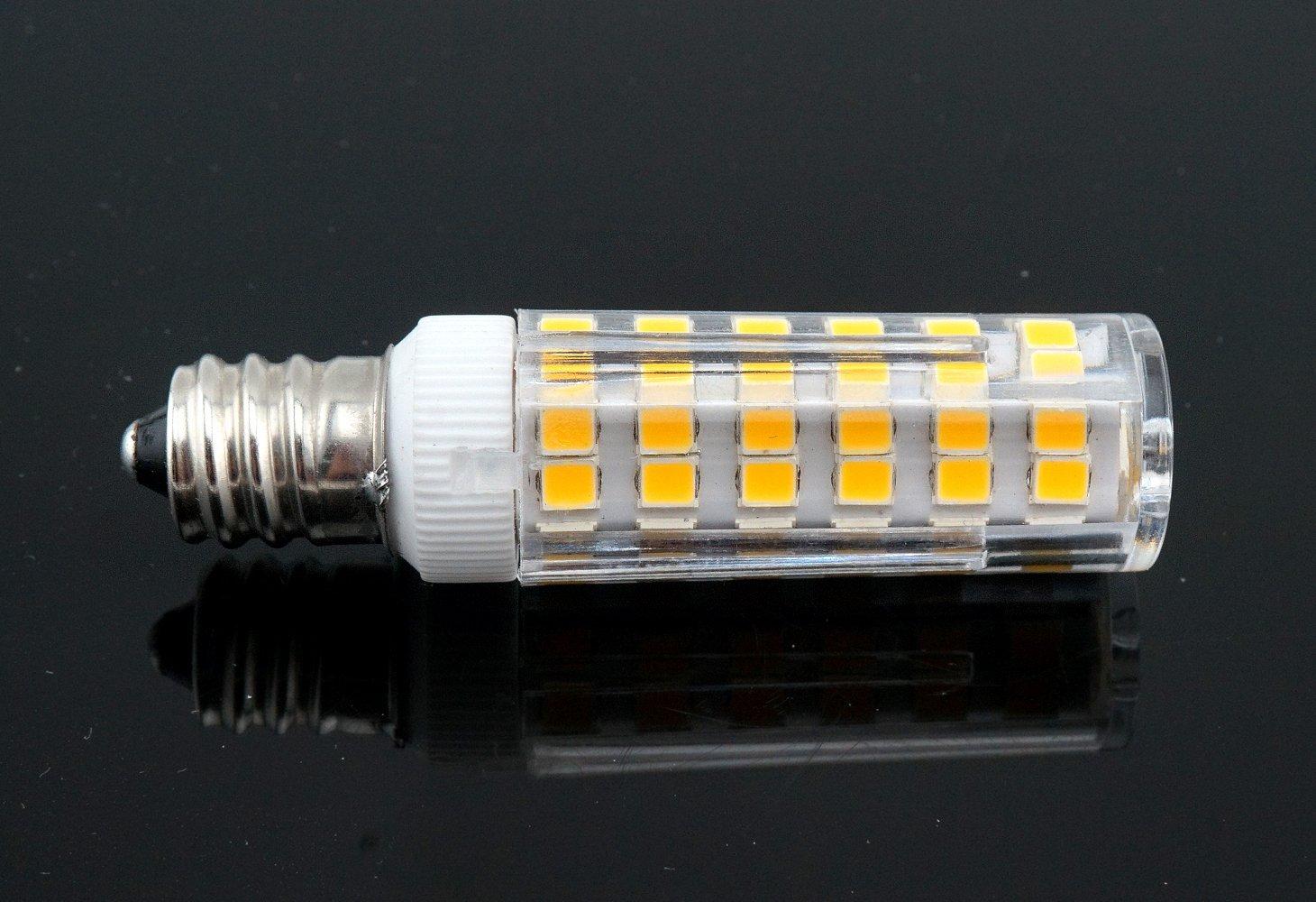 Bonlux 7W Dimmable E12 Candelabra LED Bulbs 60W Equivalent 3000k Warm White T3//T4 Candelabra E12 Base Omni-Directional E12 Replacement Bulb for Ceiling Fan Chandelier Landscape Lighting Pack of 4