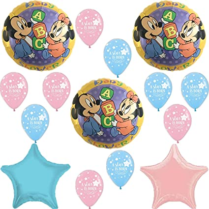 Amazon Com Mickey And Minnie Mouse Gender Reveal Baby Shower Party