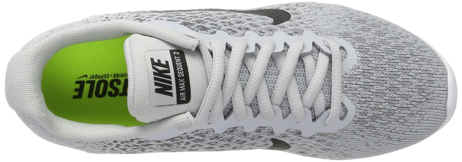 fd1c87f0a5fa79 NIKE Women s Air Max Sequent 2 Running Shoe Pure Platinum Black Cool Grey Wolf  Grey Size 9 - 852465-001 001   Road Running   Clothing
