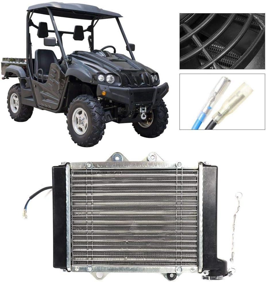 Compatible con Quad Dirt Bike Buggy EGL ATV Gancon Ventilador de refrigeraci/ón por Agua para radiadores 200CC 250CC 300CC 400CC
