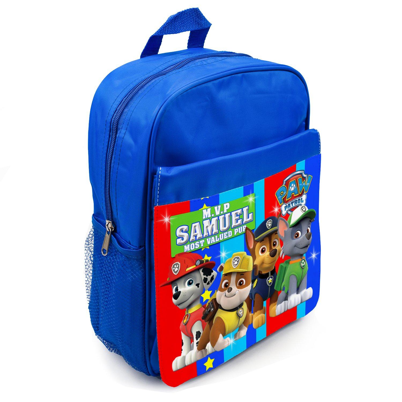 PAW PATROL Backpack Boys School Bag Childrens Kids Name Personalised PW01