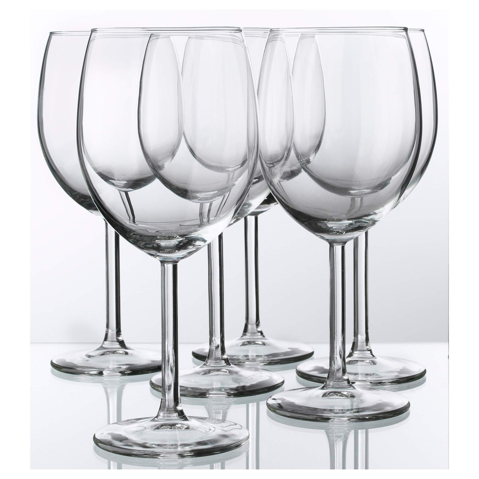Red Wine Glass By Ikea- Svalka Series SET OF 6, 10 0Z by IKEA