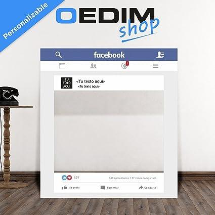 Oedim Photocall Facebook Personalizado para Eventos, Marco/Ventana ...