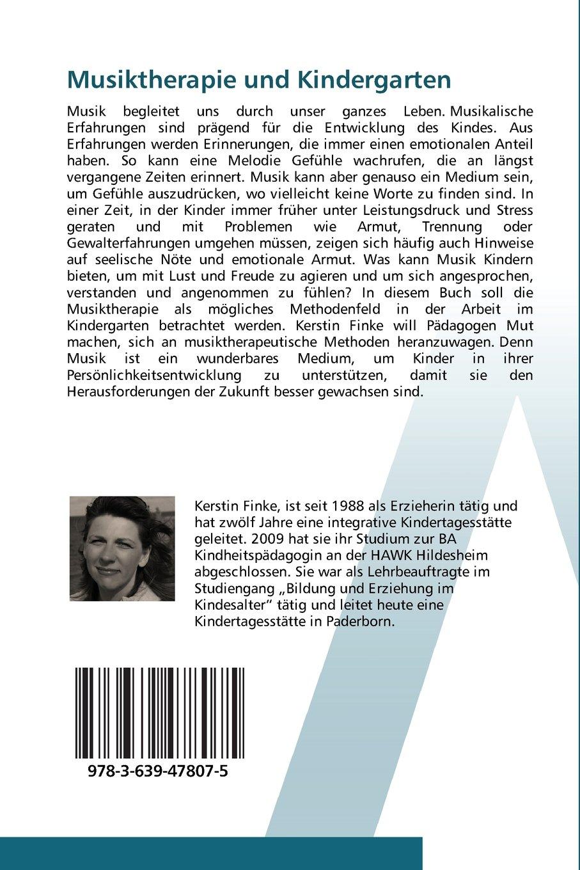 Musiktherapie und Kindergarten: Können musiktherapeutische Ansätze für die  pädagogische Arbeit im Kindergarten fruchtbar sein?: Amazon.de: Kerstin  Finke: ...