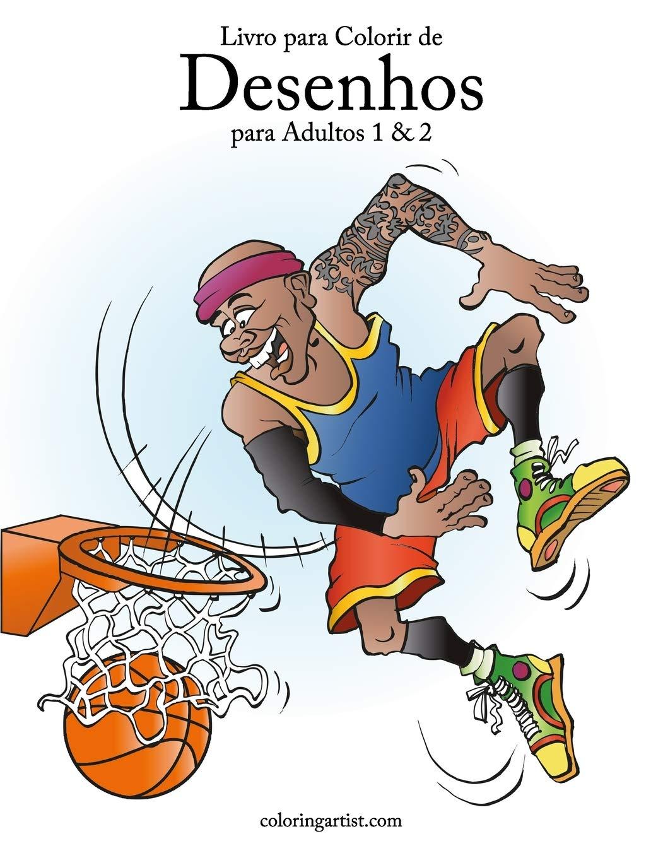 Livro Para Colorir De Desenhos Para Adultos 1 2 Portuguese