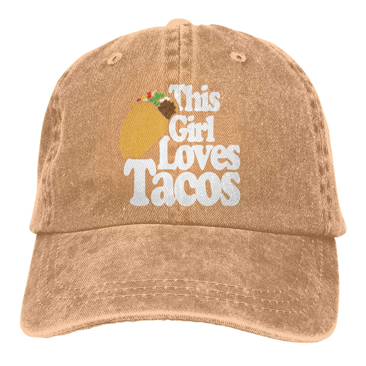This Girl Loves Tacos Adult Custom Jeans Hip Hop Cap Adjustable Baseball Cap