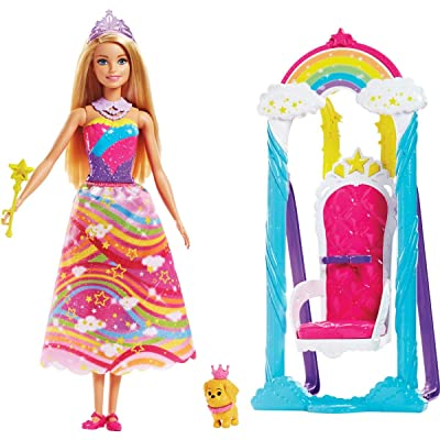 Barbie Dreamtopia Rainbow Cove Princess Swing Set: Toys & Games [5Bkhe1005920]