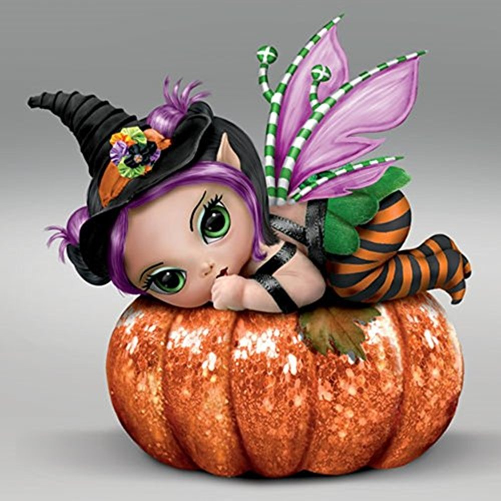 The Bradford Exchange Pun Kin Pixie Sweet Spell Baby Dolls Collection By Jasmine Becket-Griffith