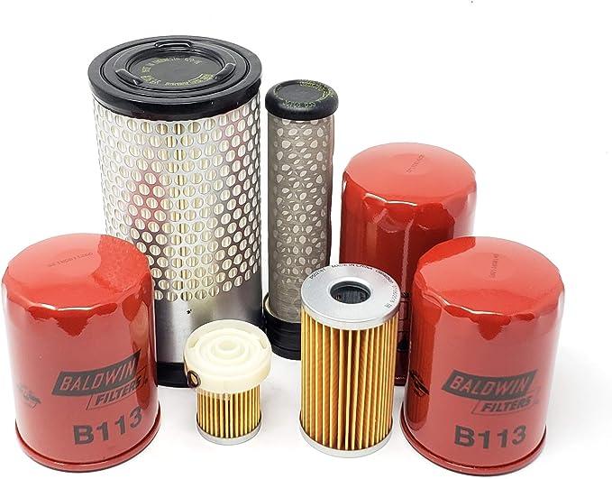 Filterset Bobcat 316 Motor Kubota D 722 Filter