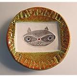 Handmade Pottery Mini Dish Raccoon Design