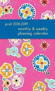 posh pink patchwork 2018 2019 monthlyweekly planning calendar