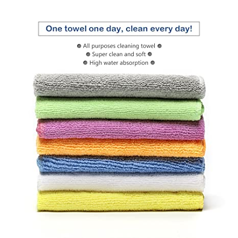 Cleaning Towels & Cloths 10pcs Microfiber Fast Dry Hand Towels Washcloths Assorted Color Cleaning Cloths