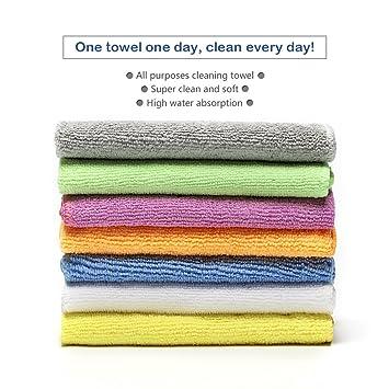 bondre 7-Pack 12 x 12 de limpieza de microfibra de toalla de cara –