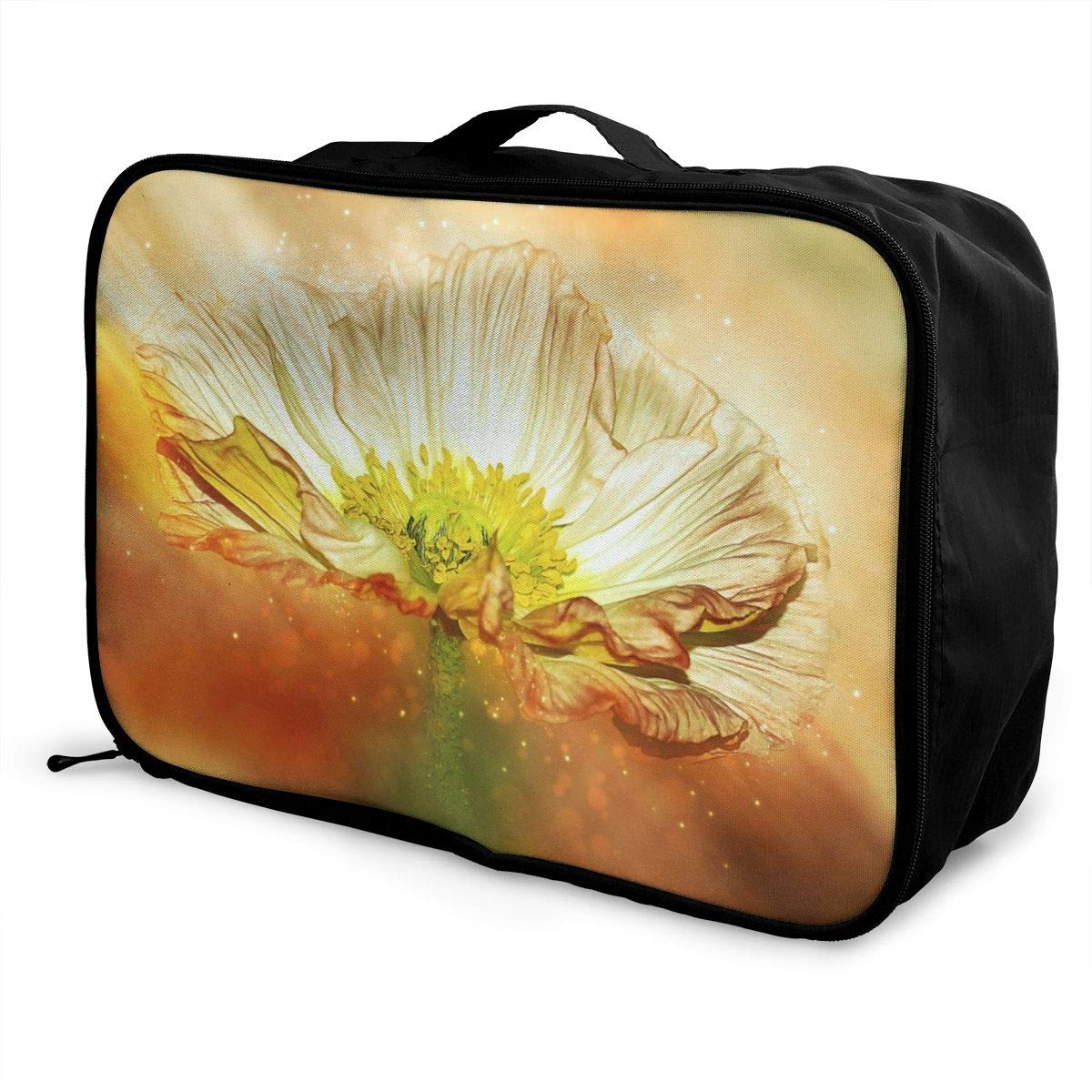 Anemone Blooming FLOWER Travel Lightweight Waterproof Foldable Storage Carry Luggage Large Capacity Portable Luggage Bag Duffel Bag