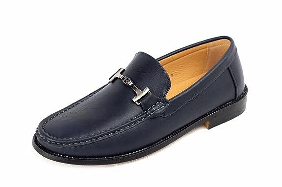 2 opinioni per Uomo Driving Scarpe Slip On Mocassini Casual Elegante Mocassino In Pelle- Navy,
