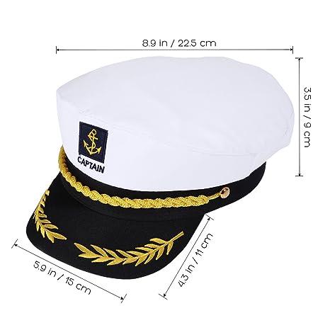 Amosfun 3pcs Ajustable Sailors Hat del capitán del yate Sea Cap ...