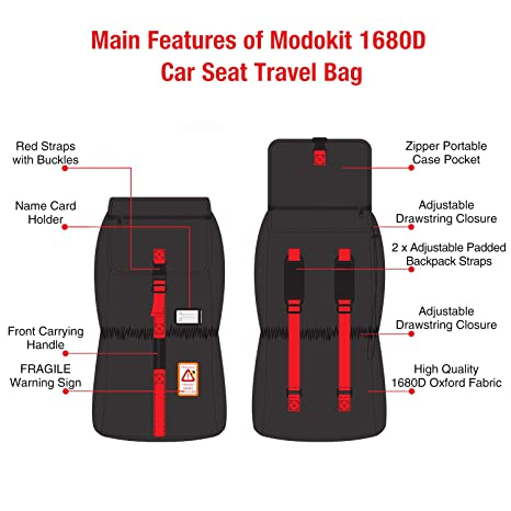 Amazon.com   Modokit 1680D Durable Stroller Bag Airplane Travel Gate Check  Bag Stroller Storage Pouch d6458ac33f286