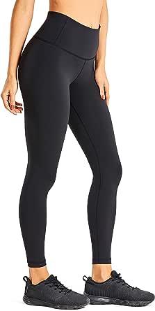 CRZ YOGA Women's Luxury Hight Waist Tights Yoga Training Leggings with Zip Pocket - 25 Inches