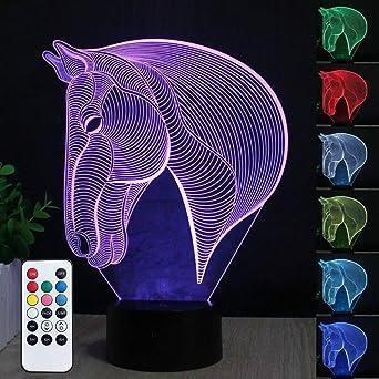Led-tischleuchten Nacht 3d Tisch Lampe Fernbedienung Led Kreative Schlafzimmer Umgebungs Licht Bunte Fernbedienung 3d Visuelle Schreibtisch Lampe