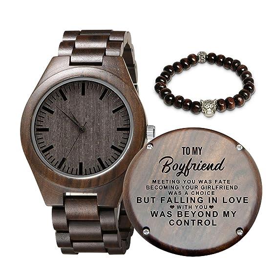 Gravierte Hölzerne Uhr Für Sohn Und Freund Personalisierte Hölzerne Uhr Geschenk Für Freund Abitur Geschenk Von Mama Von Papa