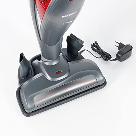 Severin Floorcare Kabelloser 2-in1 Stielsauger Staubsauger beutellos S/'POWER