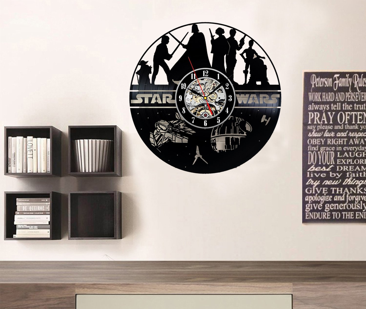 star wars wall clocks, star wars wall clock, star wars decor, star wars clock, star wars clocks