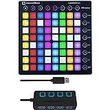 Novation Launchpad MK2 Ableton Live Controller with 4-Port 3.0 USB HUB