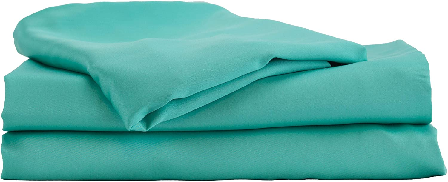 Hotel Sheets Direct Bamboo Bed Sheet Set 100% Viscose from Bamboo Sheet Set (Queen, Turquoise)