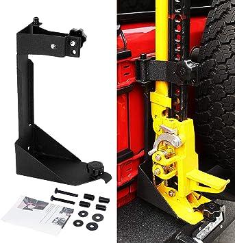 Black Mount for Driver Side, J-Mount BOLT 7028648 Hi-Lift Jack Mount for Jeep Wrangler