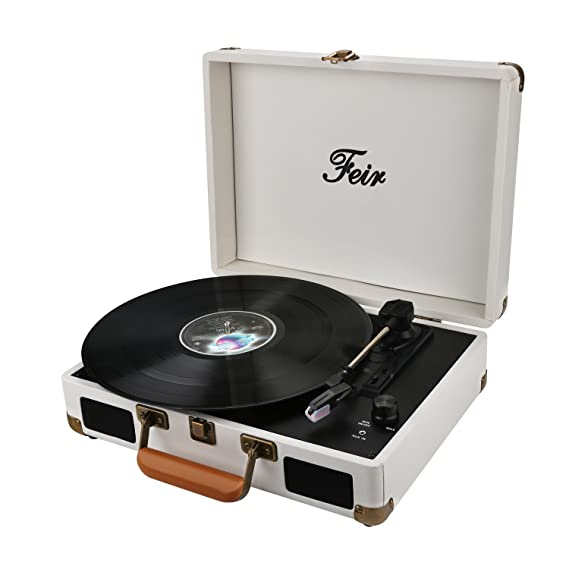 Review Vinyl Stereo White Record