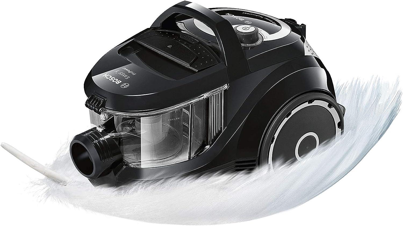 Bosch - ProPower BGS2POW1 - Aspirador trineo sin bolsa - Control automático de potencia - 1.4 litros - 79 dB - 750 W - Negro: Amazon.es: Hogar