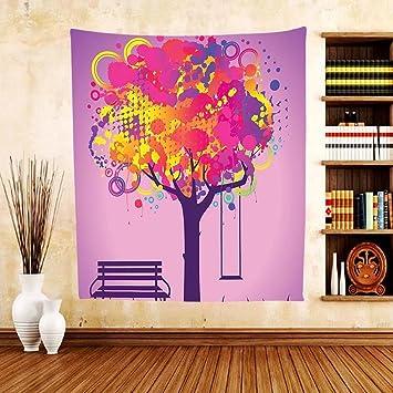 Amazon.com: Gzhihine Custom tapestry Farm House Decor Tapestry Tree ...