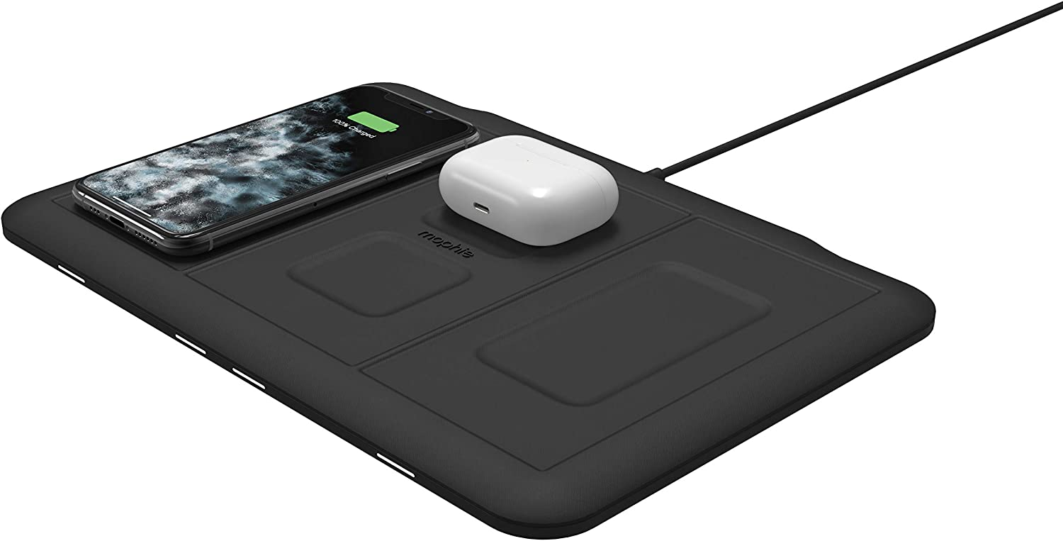 4-in-1 Wireless Charging mat - wirelessly Charge up to Four Devices and an Additional USB Device - Made for Apple iPhone, AirPods, Apple Watch, Google Pixel, Samsung Galaxy and All Qi-Enabled Devices