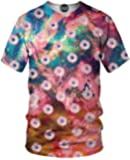 On Cue Apparel Daisy T-Shirt - All Over Print Graphic Rave Shirts