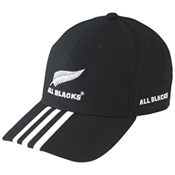 e4cdcd38 adidas New Zealand All Blacks 3 Stripe Rugby Cap Black