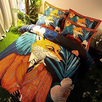 Zhouing Fantastische Mr Fox Bettbezug Set Retro Film Animation