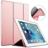 PThink Funda para iPad Mini 1 2 3 - Ultra Slim Función de Soporte Protectora Plegable Smart Cover con la contraportada Suave de TPU para iPad Mini 1 2 3 (Oro Rosa)