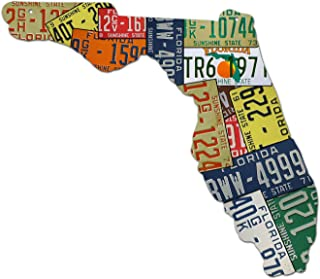 product image for Surf To Summit Plasma Cut Aluminum Florida License Plate Map Sign Metal Sign Home Decor Wall Art Garage Art Great Gift Man Cave Plasma Cut Aluminum Rustic Sign Birthday Gift