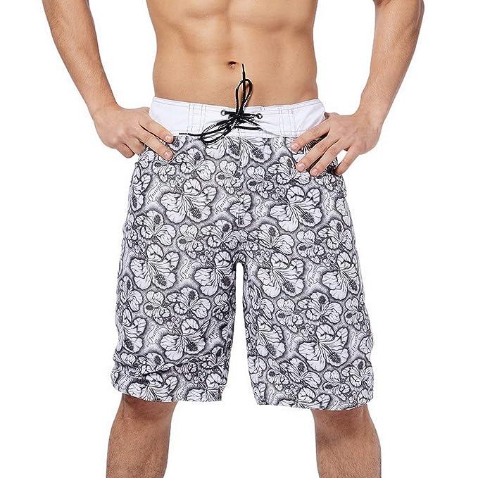 Heroic spirit Summer Vacation Beach Leisure Long Shorts Men Swimwear Sunga Board Surfing Shorts Briefs Trunk