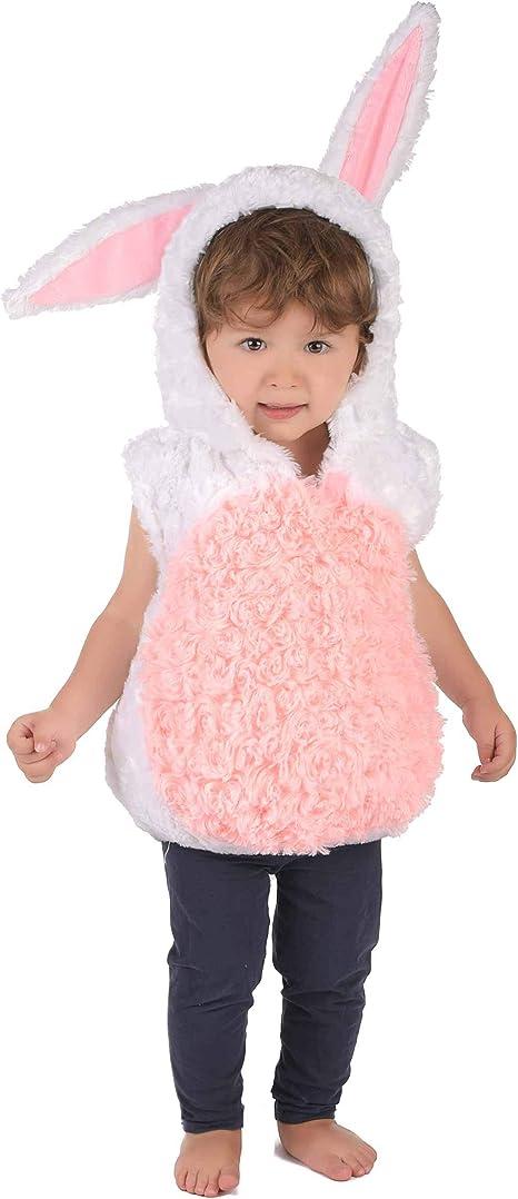 Generique - Disfraz Conejo Blanco y Rosa niño 3-4 años (98-104 cm ...